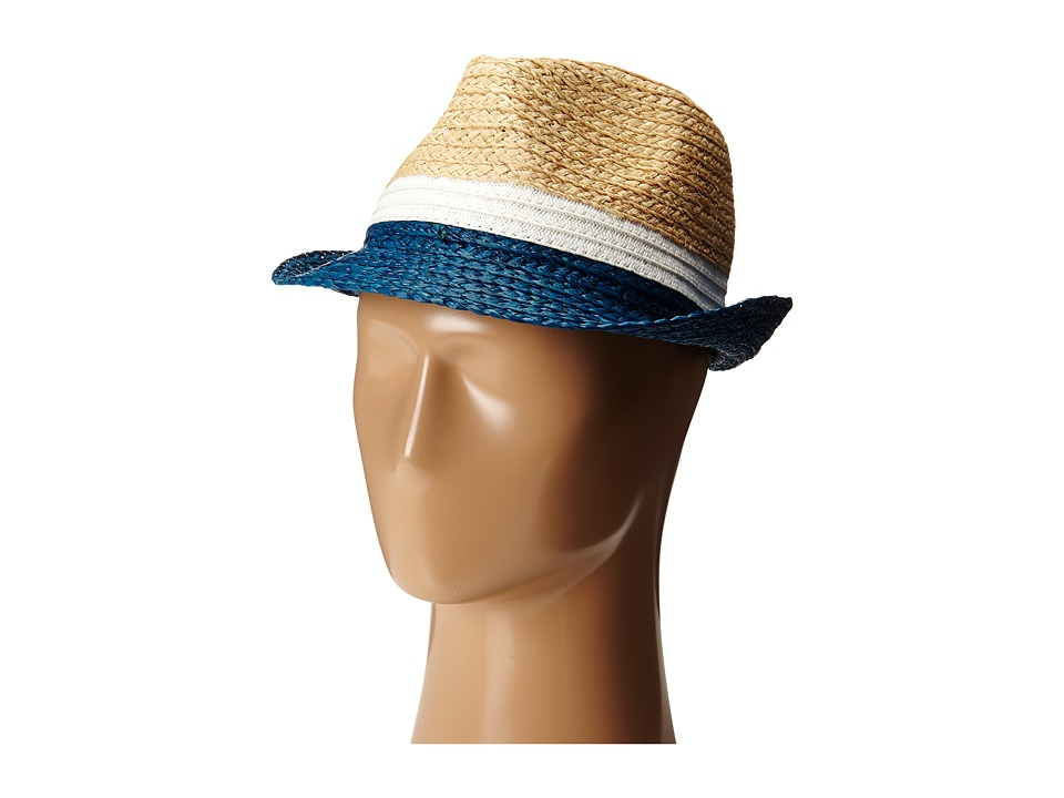 BCBGMAXAZRIA - Stitched Color Black Floppy (Shadow Blue) Traditional Hats