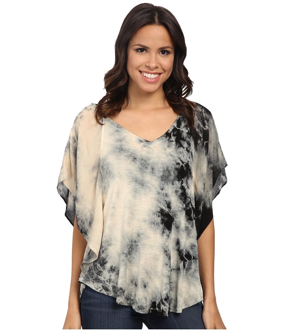 Miraclebody Jeans - Lisa Flutter Sleeve Top w/ Body-Shaping Inner Shell (Black) Women's Short Sleeve Pullover