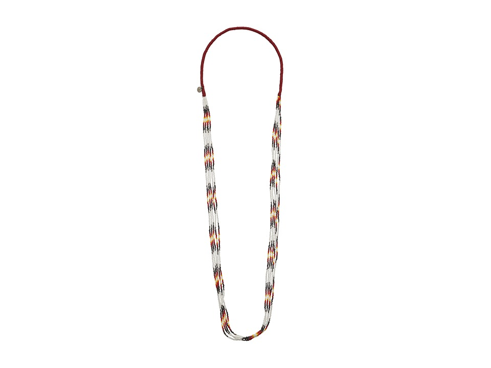Chan Luu - Multi Strand Stretch Seed Bead Necklace (White) Necklace