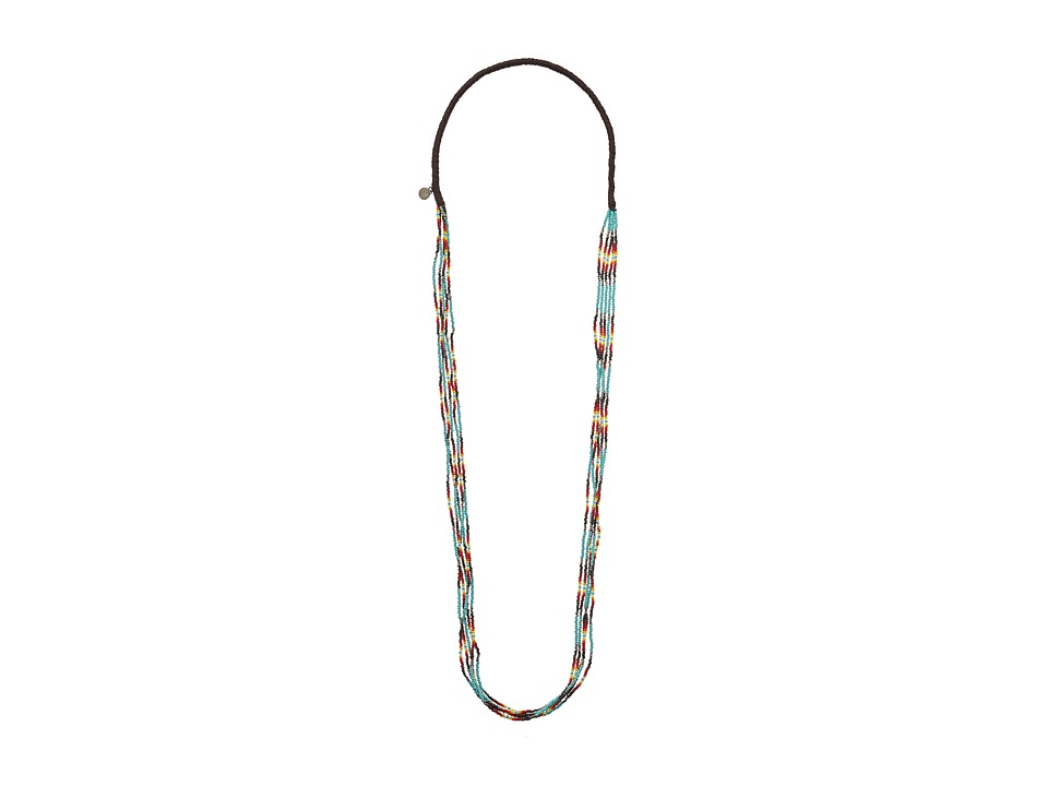 Chan Luu - Multi Strand Stretch Seed Bead Necklace (New Turquoise) Necklace