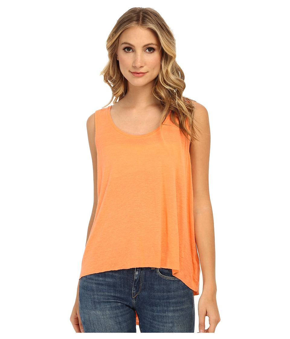 Free People - Rayon Linen Jersey Cruz Cape Tank Top (Fluro Orange) Women's Sleeveless
