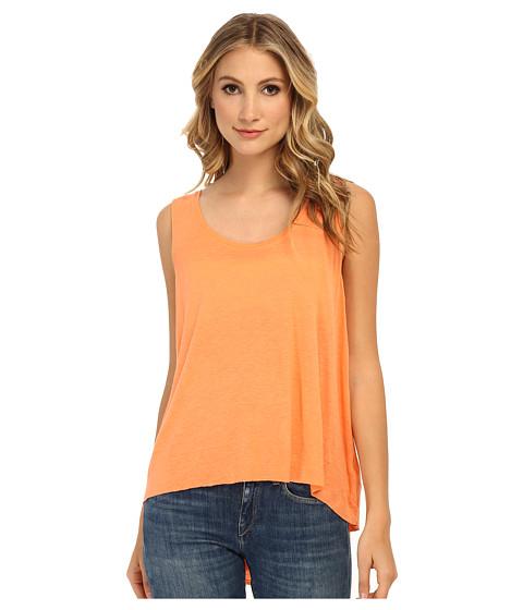 Free People - Rayon Linen Jersey Cruz Cape Tank Top (Fluro Orange) Women's Sleeveless
