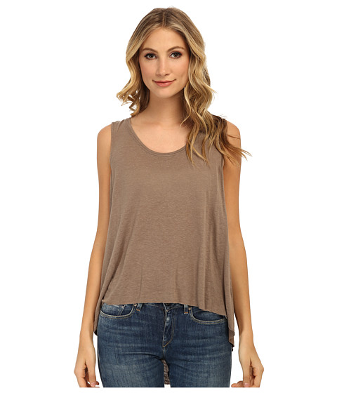 Free People - Rayon Linen Jersey Cruz Cape Tank Top (Acorn) Women's Sleeveless
