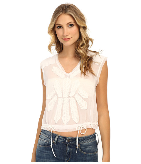 Free People - Pennies Storyteller Tee (White) Women's T Shirt