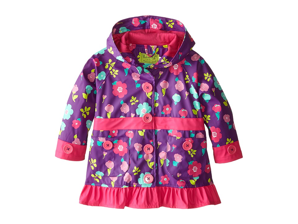 Western Chief Kids - Lovely Floral Raincoat (Toddler/Little Kid) (Purple) Girl's Coat