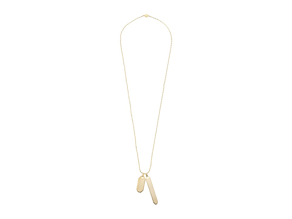 Vince Camuto - Double Tag Pendant Necklace (Gold) Necklace