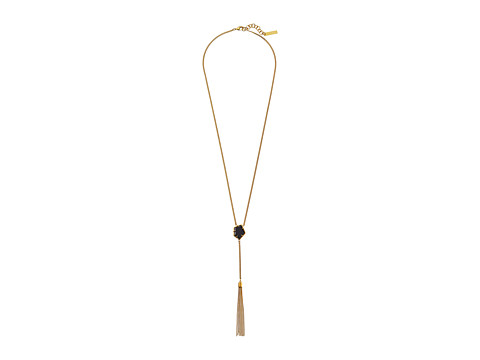 Vince Camuto - Stone Center Y Necklace (Gold/Black) Necklace