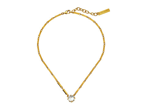 Vince Camuto - Short Rivoli Pendant Necklace (Gold/Crystal) Necklace