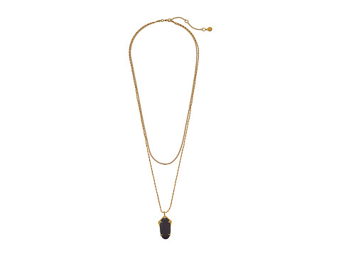 Vince Camuto - High-Low Stone Necklace (Gold/Black) Necklace