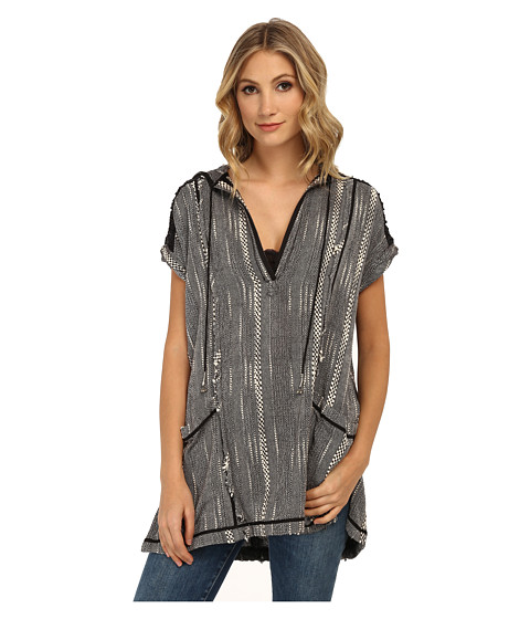Free People - Stripe Forever Yours Tunic (Black Combo) Women