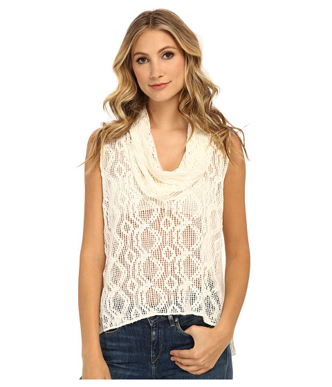 Free People - Just Like That Sleeveless Cowl (Ivory) Women