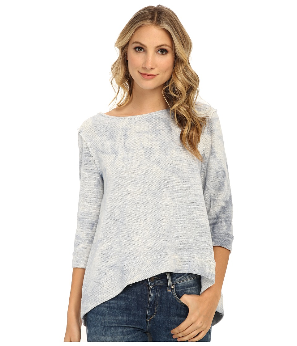 Free People - French Terry Cloudy Day Pullover (Blue) Women's Clothing