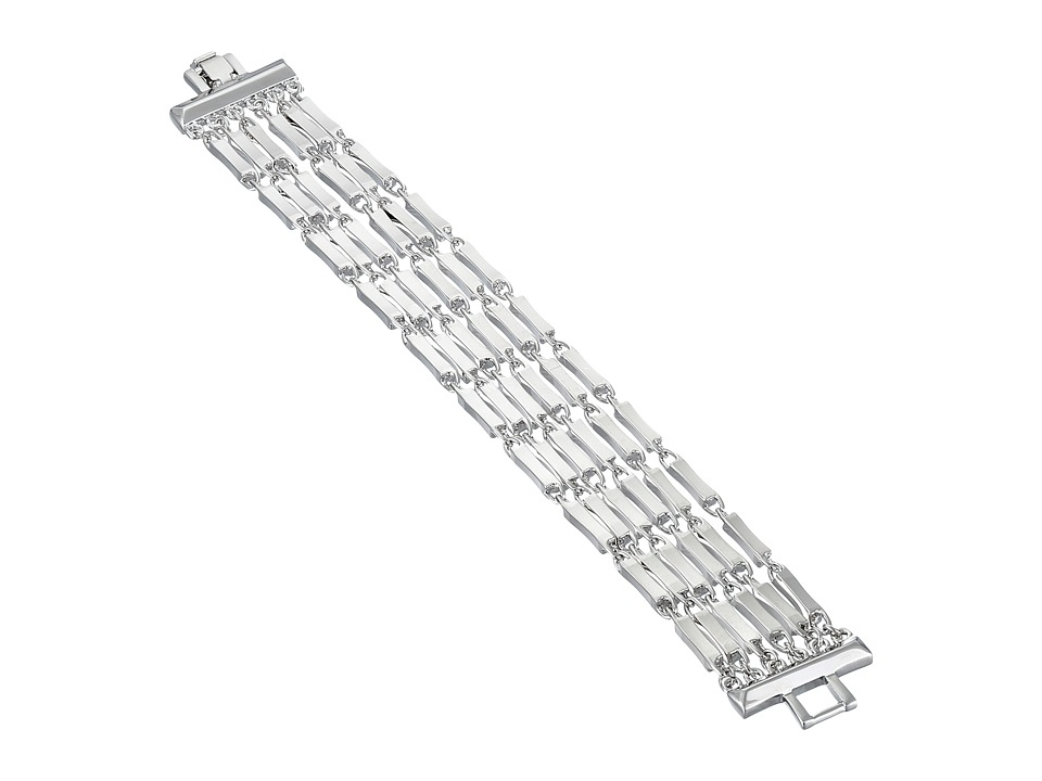 Vince Camuto - 6 Row Chain Bracelet (Light Rhodium) Bracelet