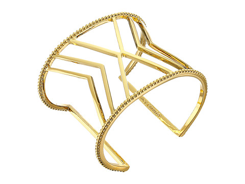 Vince Camuto - Textured Border Chevron Cuff Bracelet (Gold) Bracelet