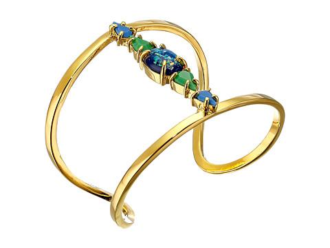 Vince Camuto - Stone Delicate Open Cuff Bracelet (Gold/Electric Blue/Blue Opal/Green) Bracelet