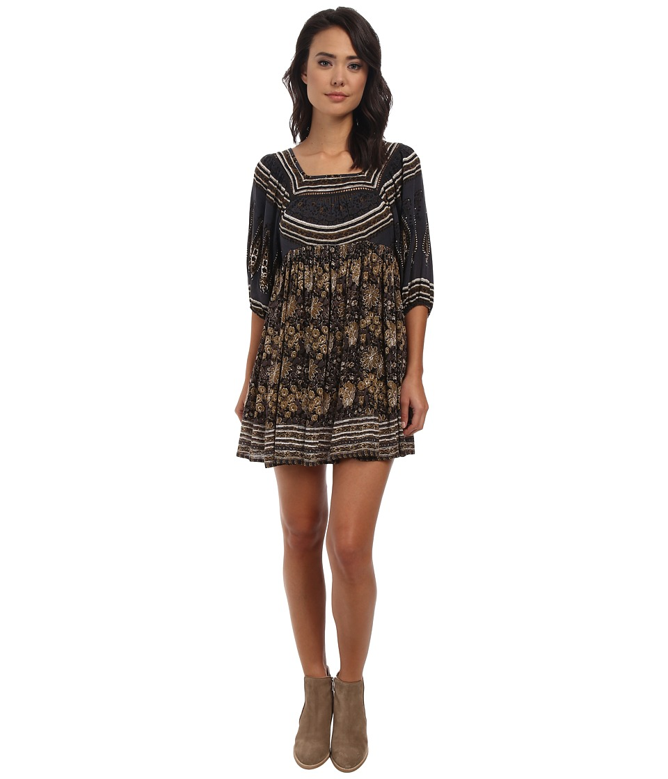 Free People - Snap Out Of It Rayon Midsummers Dream (Night Combo) Women's Dress