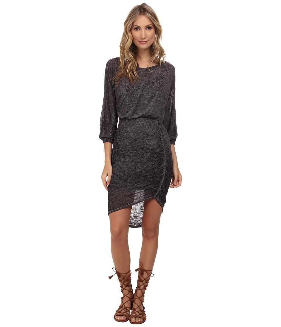 Free People - Tidepool Midi Knit Dress (Black) Women's Dress