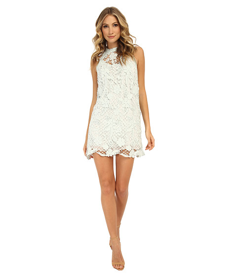 Free People - Snowdrop Lace Trapeze Dress (Mint) Women