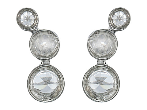 Vince Camuto - Mini Crystal Point Stud Earrings (Light Rhodium/Crystal) Earring