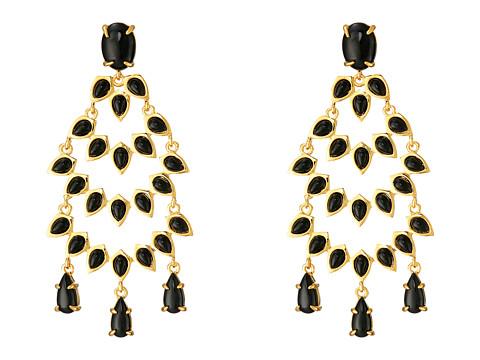 Vince Camuto - Stone Drama Chandelier Earrings (Gold/Black) Earring