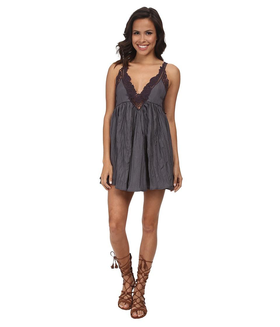 Free People - Breathless Mini Dress (Slate) Women