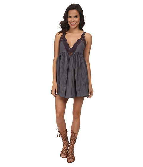 Free People - Breathless Mini Dress (Slate) Women