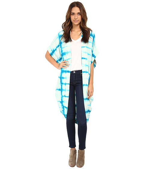 Free People - Tie-Dye Kaftan (Turquoise Combo) Women's Clothing