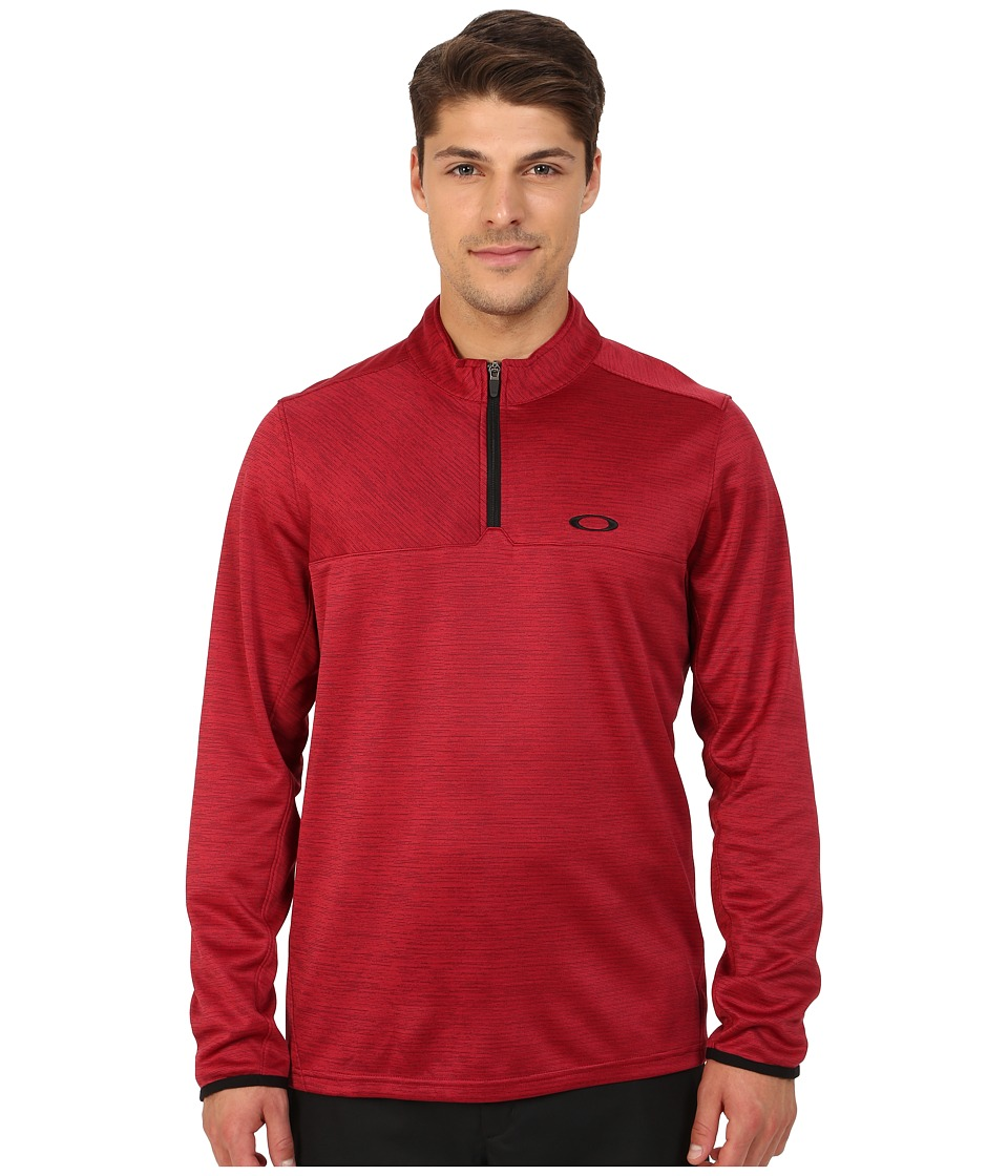 Oakley - Scores 1/4 Zip (New Crimson) Men's Clothing