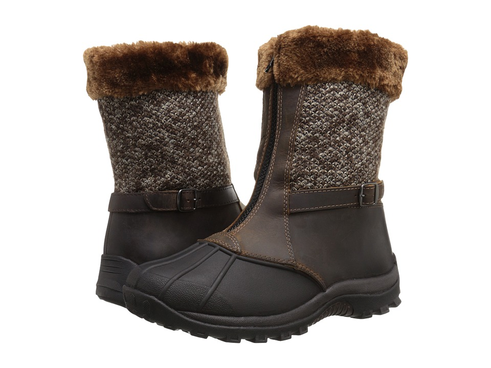 Propet Blizzard Mid Zip (Brown/Brown Knit) Women