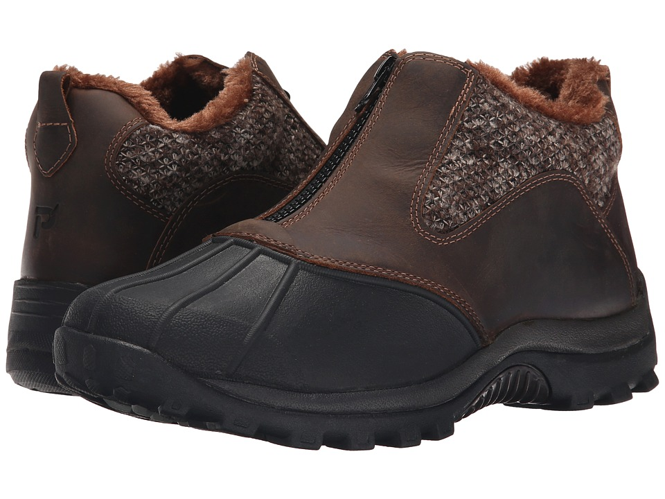 Propet Blizzard Ankle Zip (Brown/Brown Knit) Women