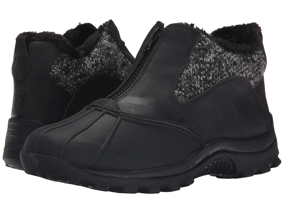 Propet - Blizzard Ankle Zip (Black/Black Knit) Women