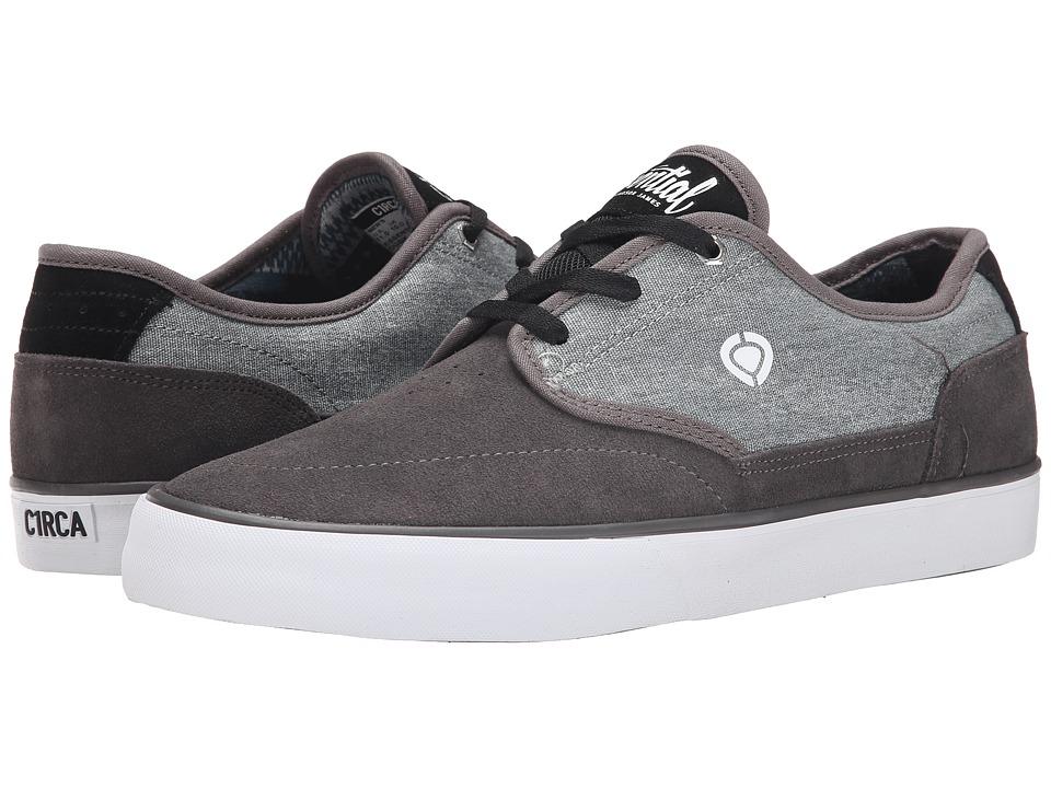 Circa - Essential (Dark Gull/Black/White) Men's Skate Shoes