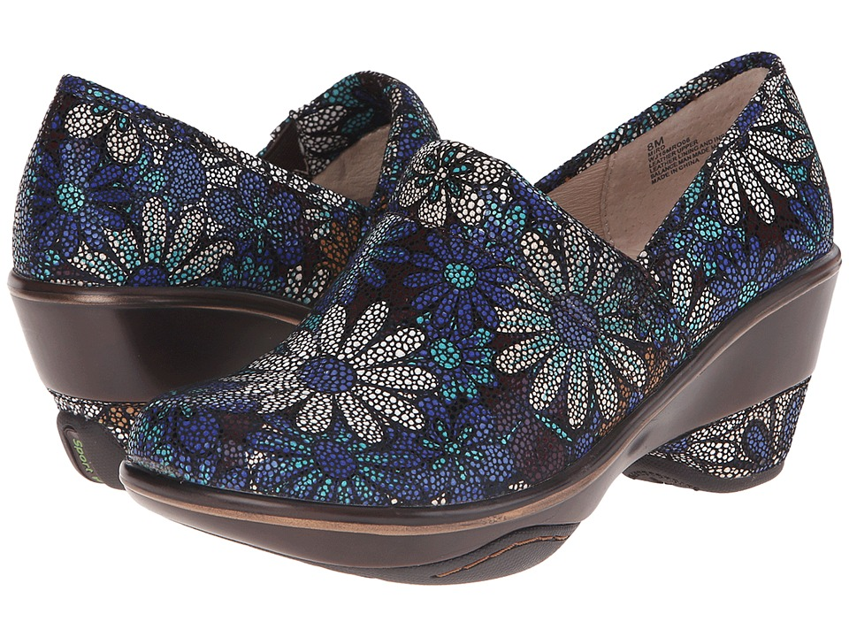 Jambu - Miro (Blue Floral) Women's Clog Shoes