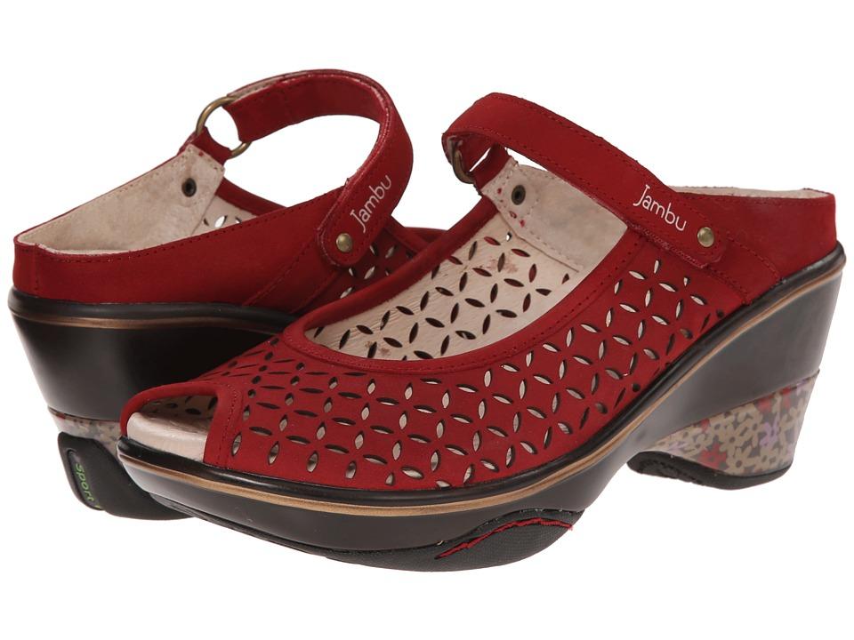 Jambu - Journey Encore (Red) Women's Maryjane Shoes