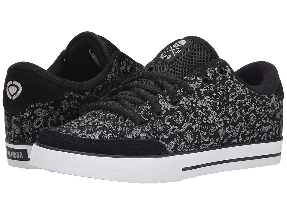 Circa - Lopez 50 (Black/Paisley) Men's Skate Shoes
