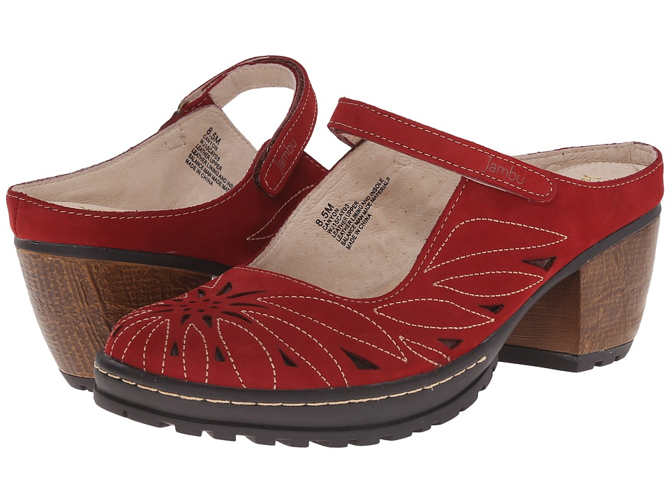 Jambu - Canyon (Deep Red) Women's Clog Shoes