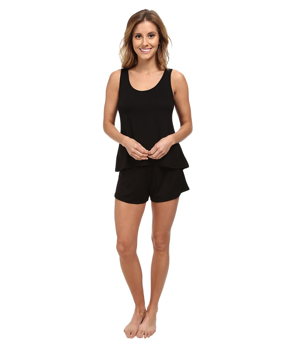 Hanky Panky - Logo To Go Sleepwear Set (Black) Women's Pajama Sets
