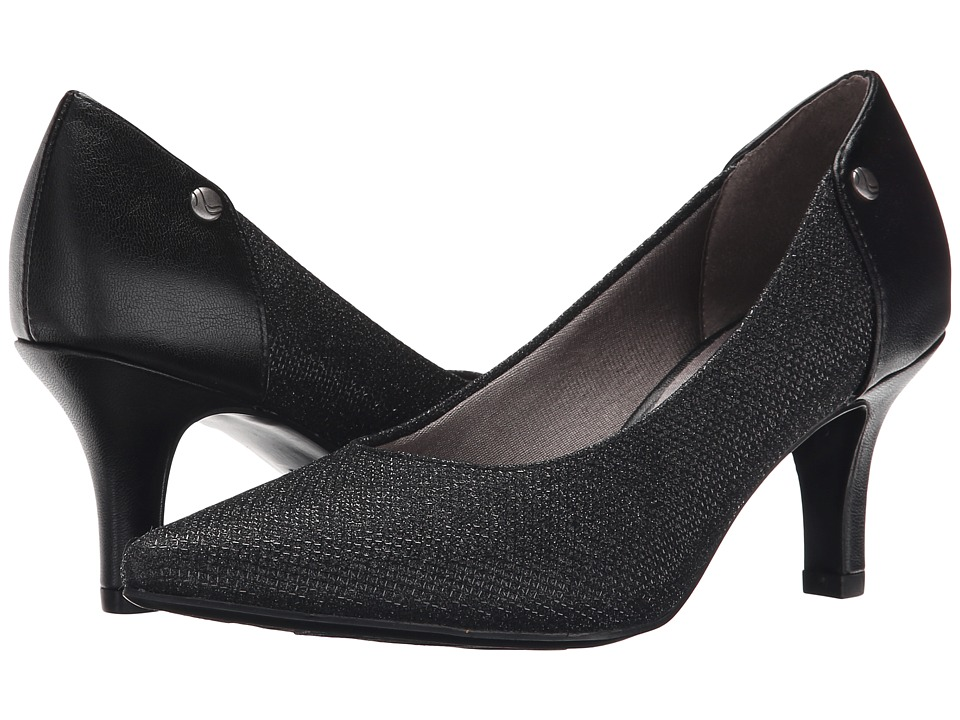 LifeStride - Star Too (Black Shiny Fabric) Women's 1-2 inch heel Shoes