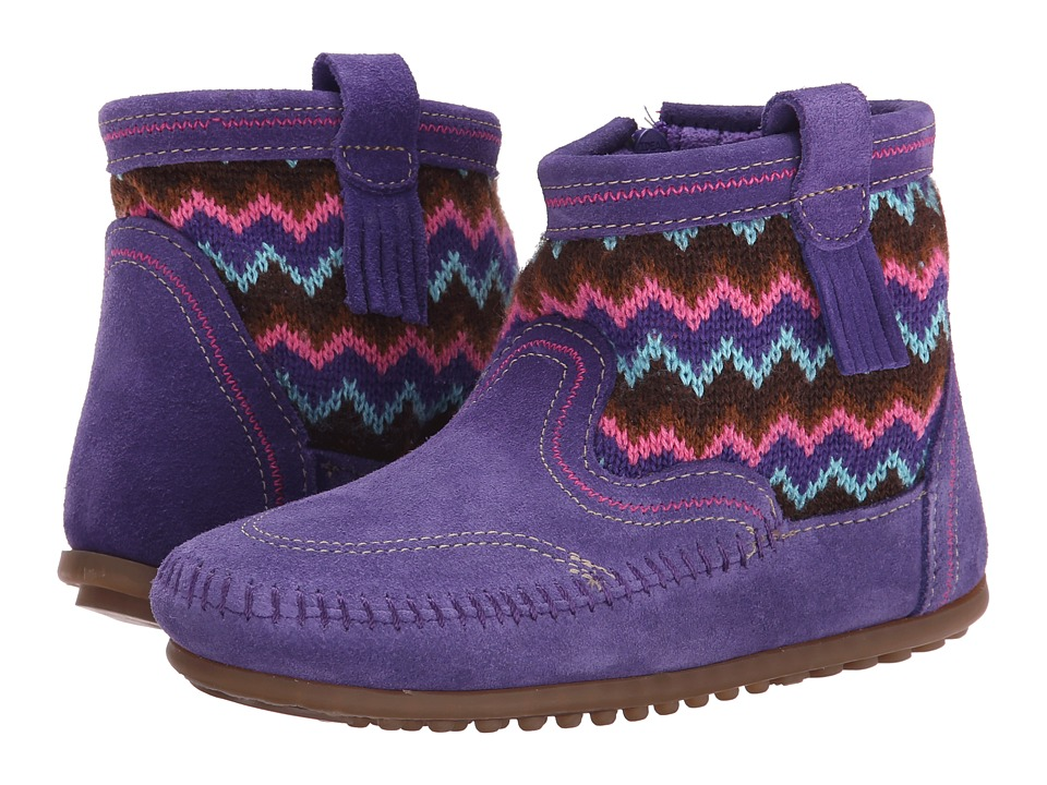 Minnetonka Kids - Sweater Boot (Toddler/Little Kid/Big Kid) (Purple) Girls Shoes