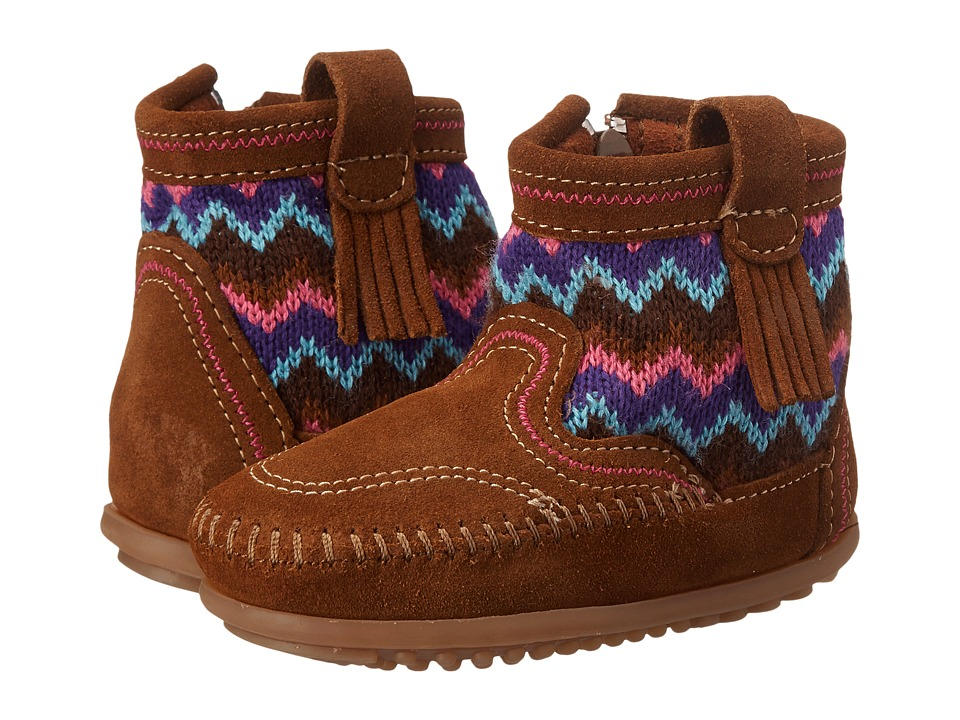 Minnetonka Kids - Sweater Boot (Toddler/Little Kid/Big Kid) (Dusty Brown) Girls Shoes