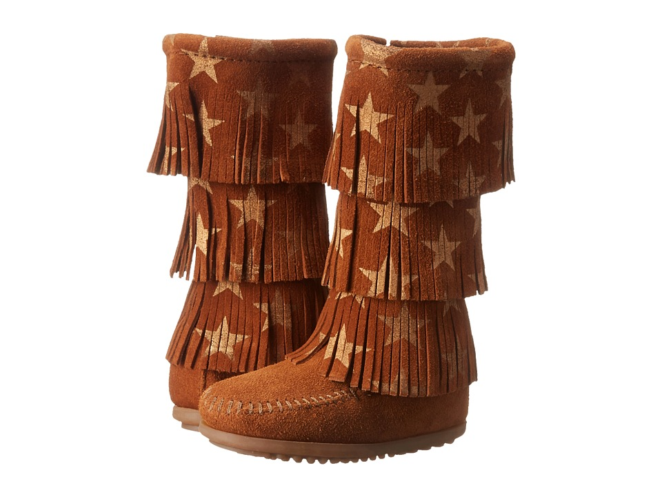 Minnetonka Kids - Star 3 Layer Boot (Toddler/Little Kid/Big Kid) (Brown) Girls Shoes