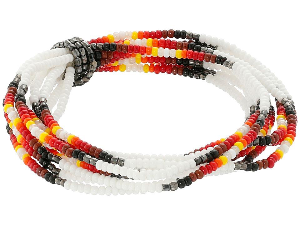 Chan Luu - Multi Strand Stretch Seed Bead Bracelet (White) Bracelet