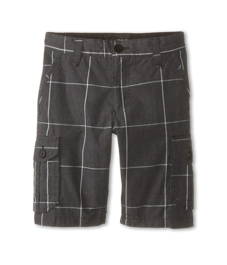 Hurley Kids - Plaid Cargo Shorts (Big Kids) (Black) Boy's Shorts