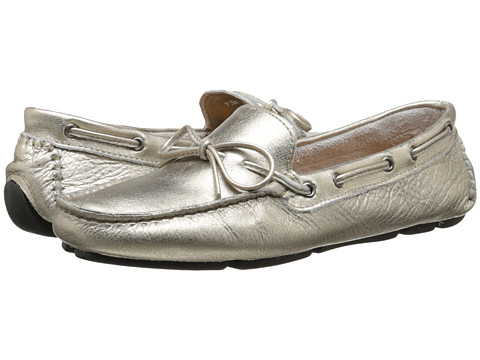 Massimo Matteo - Driver with Tie (Graphite Metallic) Women's Moccasin Shoes