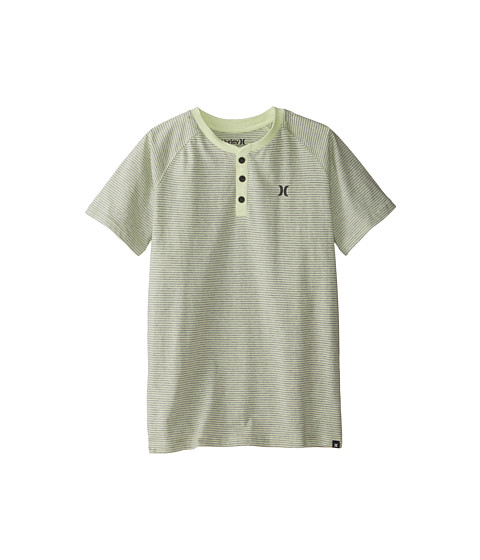 Hurley Kids - Dip Dyed Henley (Big Kids) (Liquid Lime) Boy's T Shirt