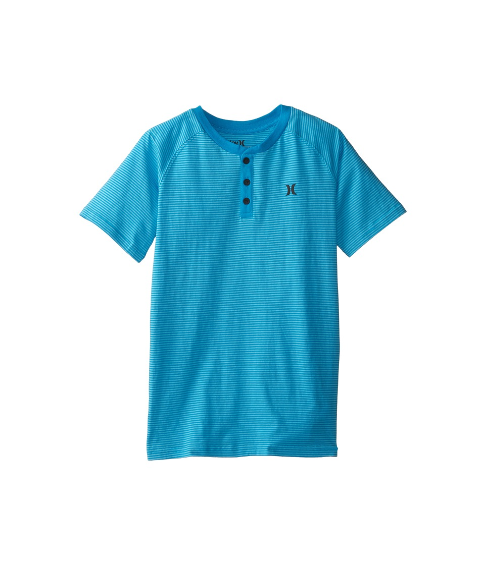 Hurley Kids - Dip Dyed Henley (Big Kids) (Blue Lagoon) Boy's T Shirt