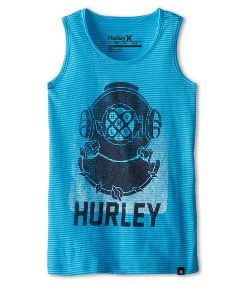 Hurley Kids - Stripe Hype Tank Top (Little Kids) (Blue Lagoon) Boy's Sleeveless