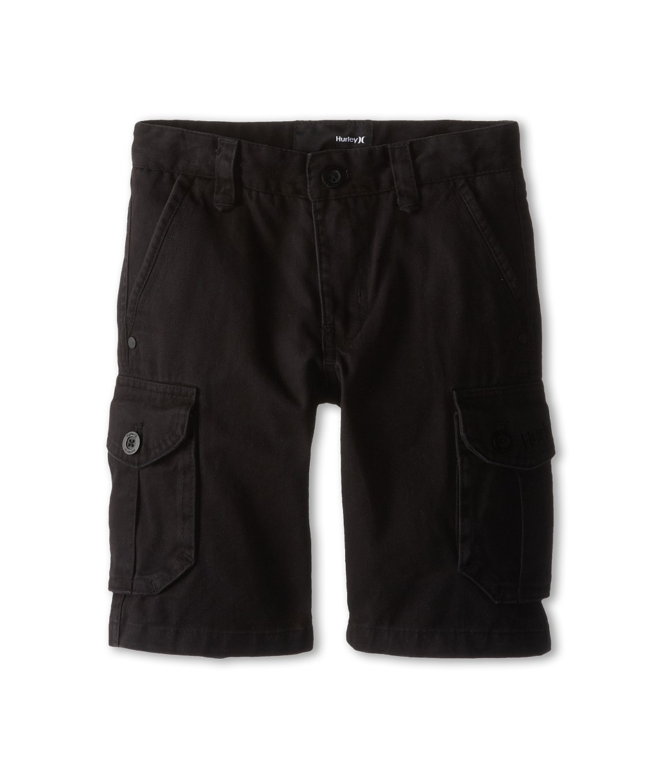 Hurley Kids - One and Only Cargo Shorts (Little Kids) (Black) Boy's Shorts