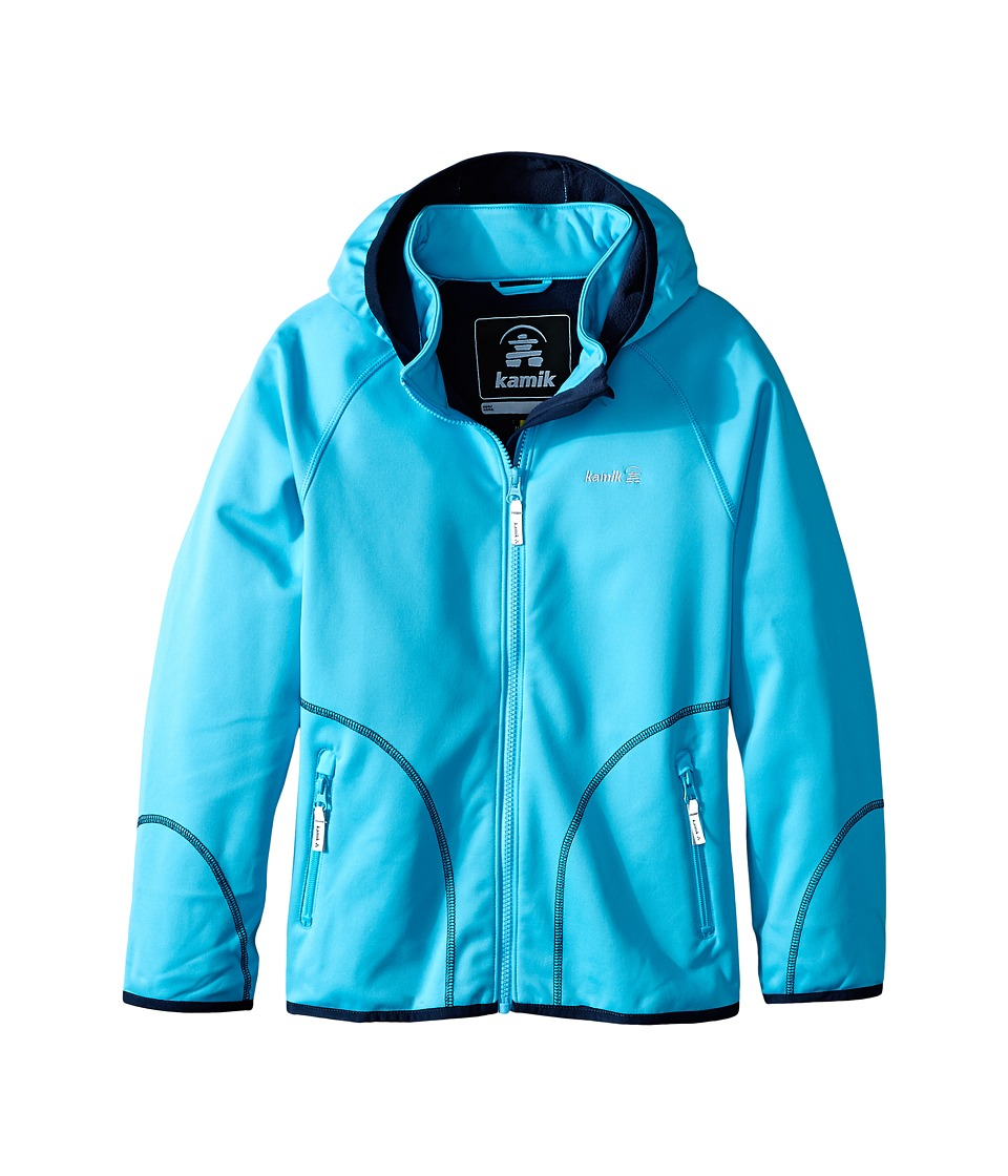 Kamik Kids - Soft Shell Jacket (Toddler/Little Kid/Big Kid) (Blue Atoll) Girl's Coat