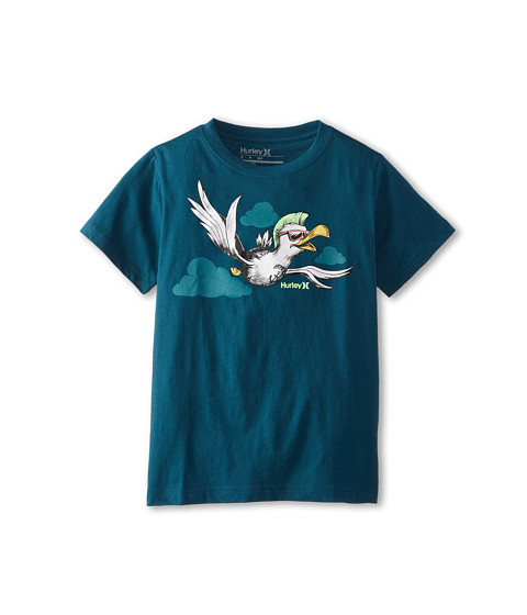 Hurley Kids - Short Sleeve Seagull Tee (Big Kids) (Teal) Boy